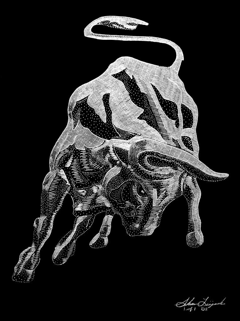 Lamborghini Bull Hand Engraved By Artist Shawn Lisjack Flickr
