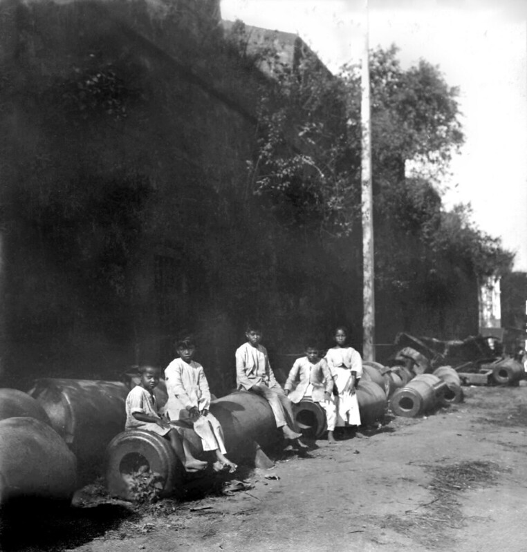 Old Spanish cannons, Intramuros, Manila, Philippines  Late 19th or early 20th Century