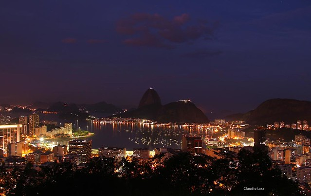 Foto da Enseada de Botafogo e do Pão de Açúcar