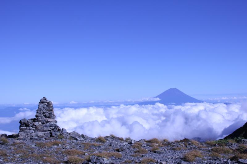 間ノ岳登山