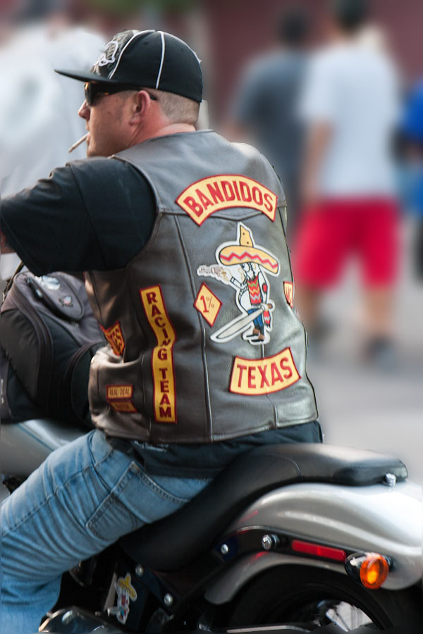 Bandidos Biker From The Bandidos Motorcycle Club A