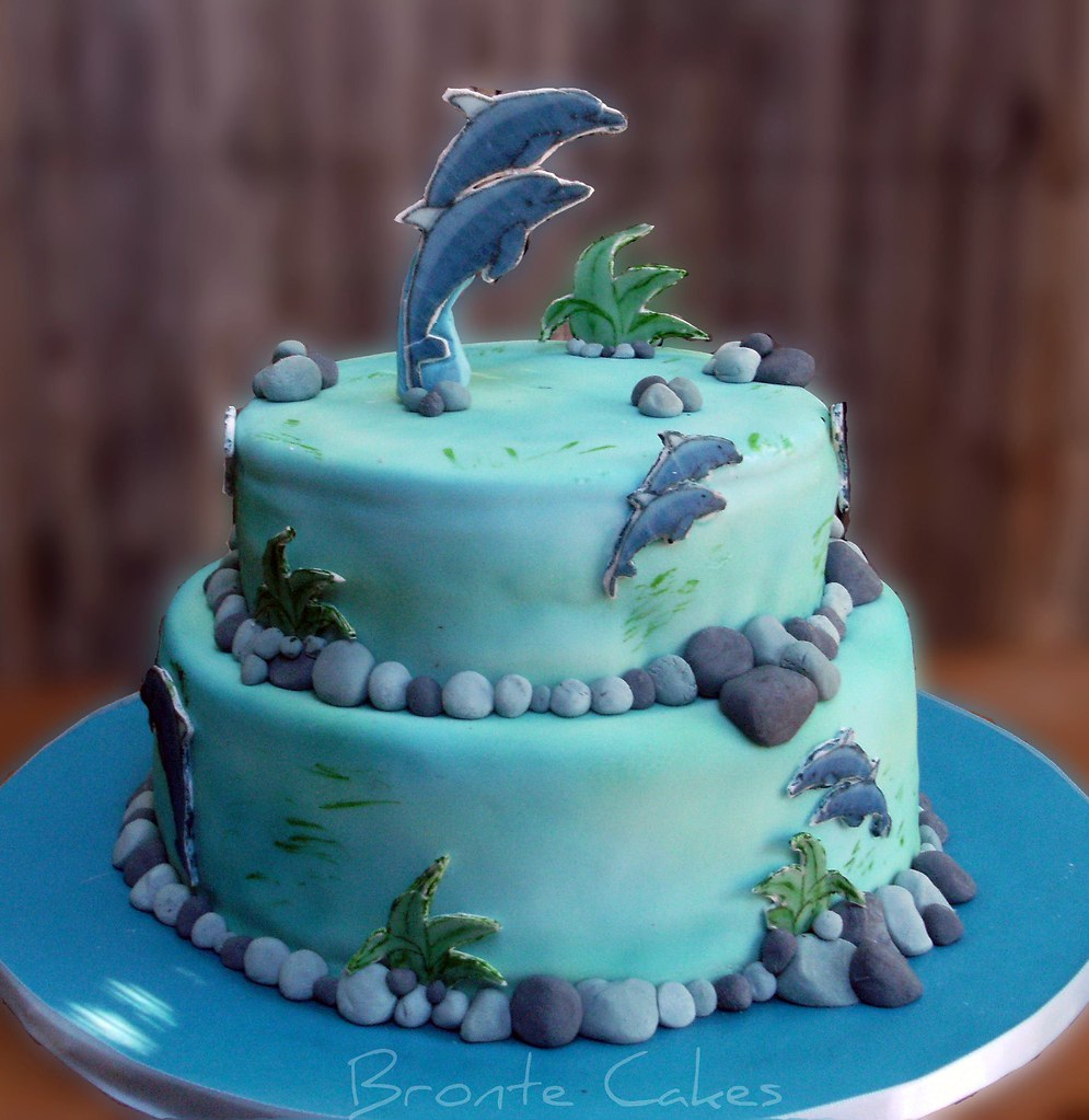 Fantastic Dolphins 21St Birthday Cake This Is One Of Those Cakes Flickr Birthday Cards Printable Nowaargucafe Filternl