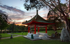 Chinese Garden Singapore: A Pavilion Sunset :