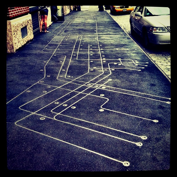 Subway Map Floating On A Ny Sidewalk New York Ny.One Of My Fav Pieces Of Street Art In Nyc Subway Map F Flickr