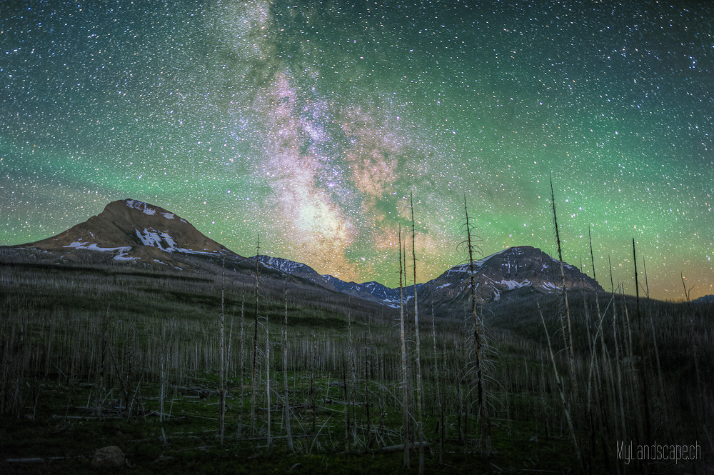 Day 23½: Stargazing in Glacier national park (Airglow) | Flickr