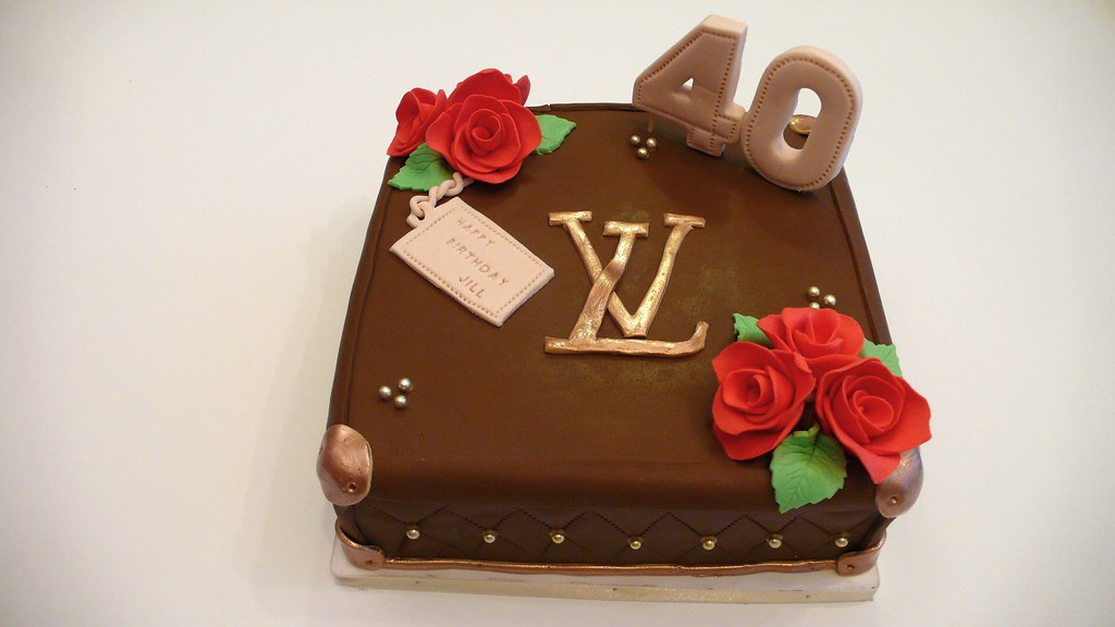 Brilliant Lv Birthday Cake Louis Vuitton Cake This Time A Smaller 1 Flickr Birthday Cards Printable Benkemecafe Filternl