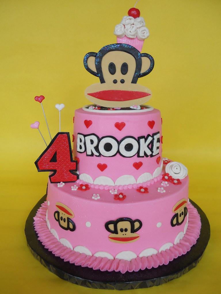 Paul Frank Monkey Cupcake Birthday Cake