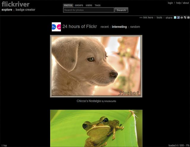 Flickriver Group View (Screenshot)