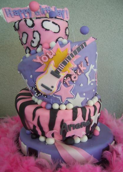 Surprising Rockstar Princess Cake San Jose Custom Cakes Flickr Funny Birthday Cards Online Inifofree Goldxyz