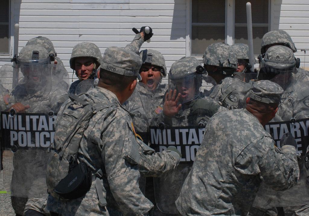 247th Military Police Detachment Civil Disturbance Training