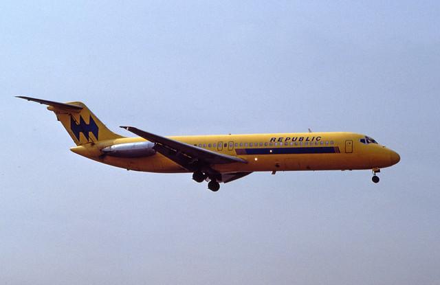 11. Republic Airlines (1979-1986) McDonnell Douglas DC-9-30