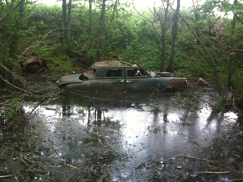 street classic ford abandoned car vintage doors flood suicide rusty chevy swamp rod studebaker wreck sunroof