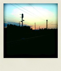 Sunrise and railway