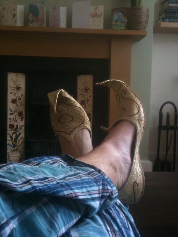 I quite like a bit of Arabian camel skin #newshoes