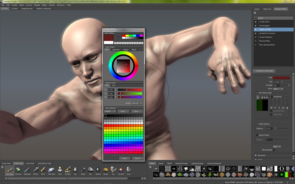 Autodesk - Mudbox - Screenshot - Color - Chooser | Autodesk
