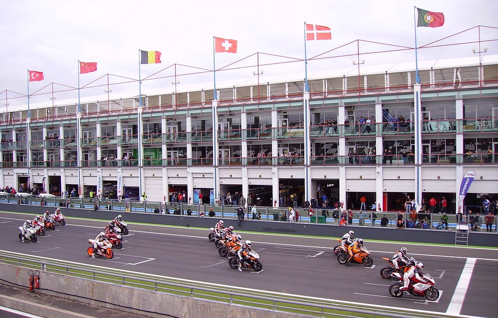 Before a motorbike racing