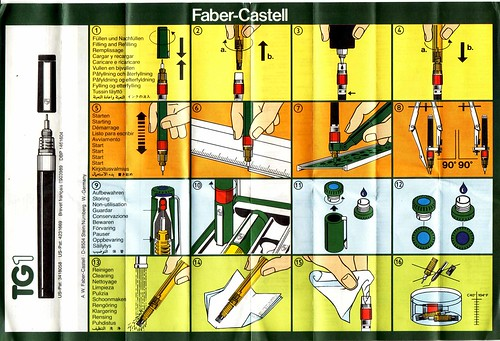 faber castell tg1s instructions sheet | blog entry