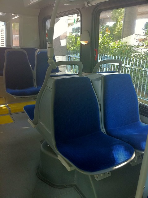 Facing seats on the Nova Bus LFX