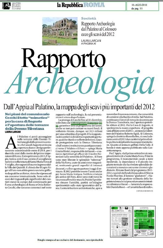 RAPPORTO ARCHEOLOGIA 2012 - Dall
