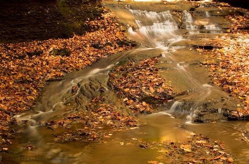 longexposure autumn fall water leaves waterfall pentax foliage fallinpa mcconnellsmill hellshollow westernpa k5ii pentaxk5ii