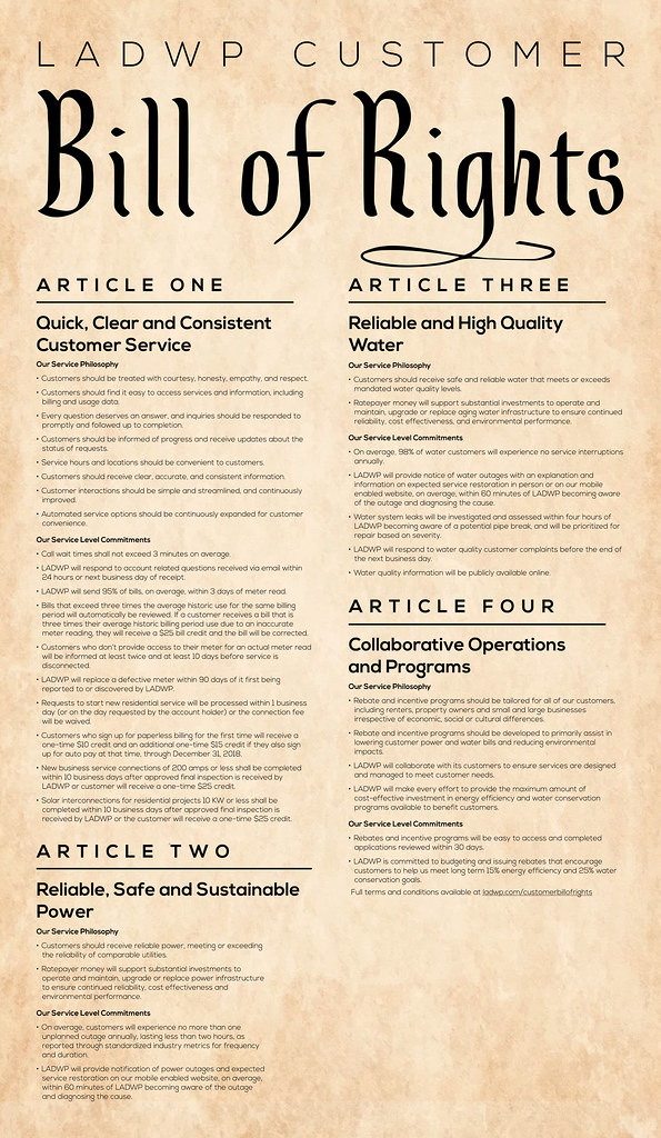 The LA Department of Water and Power Bill of Rights | Flickr
