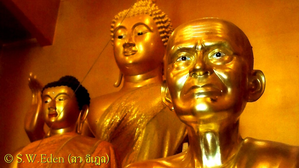 Thailand Education Teachers Students School University Classroom Studying Learning Activities วัดเขาถ้ำสูง Temple golden statue