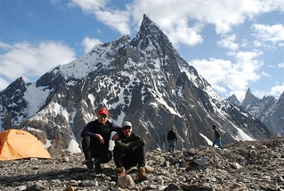 With John in front of Mitre Peak