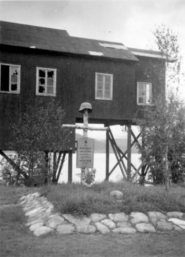 Østerrisk bergjeger begravet 18. mai 1940. Ved Andfiskå like sør før Mo I Rana