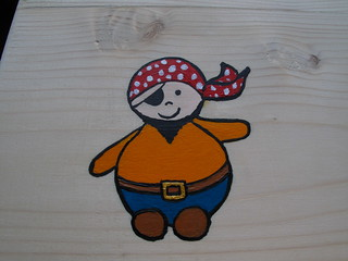 Pirate painted on table   by lilspikey