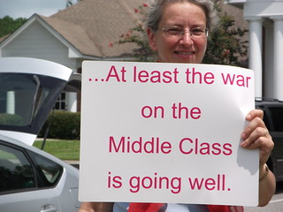 At least the war on the Middle Class is going well. | by faul