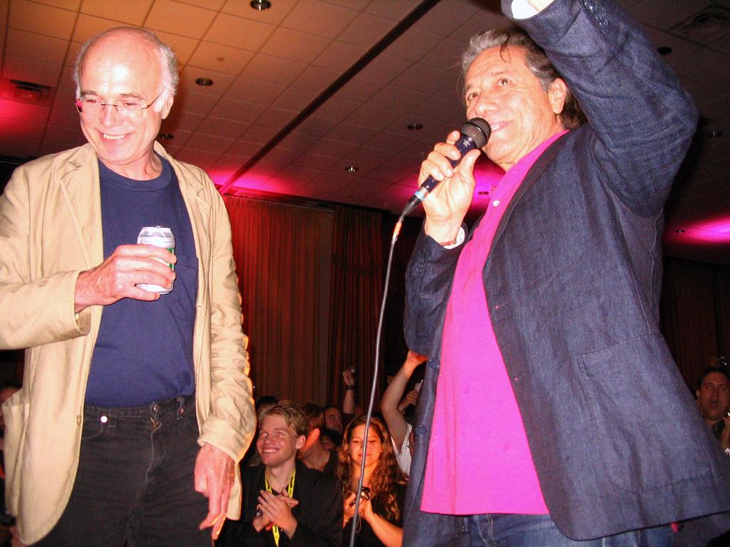 Michael Hogan & Edward James Olmos at TCF Party   Celeste Monsour ...