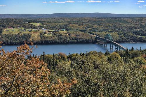 bridge fall water river novascotia capebreton