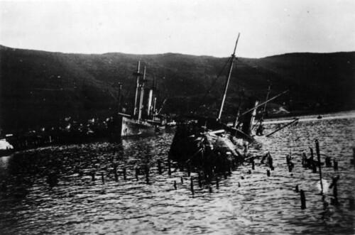 Skipsvrak etter kampene om Narvik