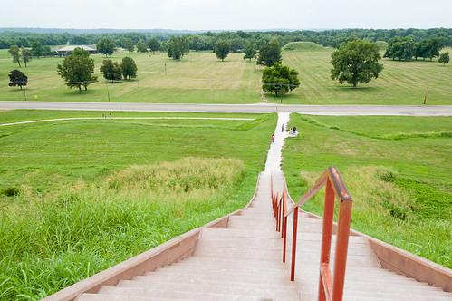 statepark stairs illinois unitedstates il mound cahokia collinsville eaststlouis indianmound cahokiamounds
