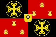 Modern style Banner of the Frankish Empire with carolingian cross