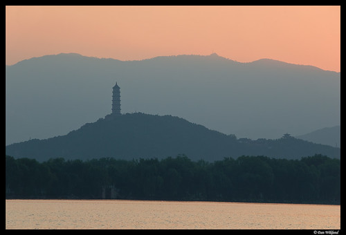 china sunset landscape evening pagoda asia buddhist beijing layers summerpalace d200 2011