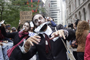 Zombie man at Occupy Wall Street | by WarmSleepy