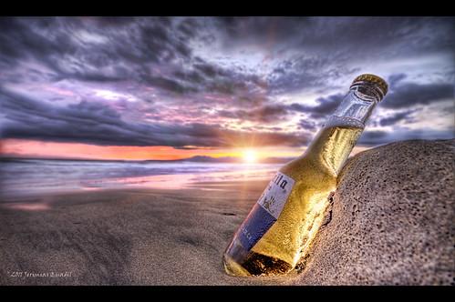 sunset seascape beach beer photoshop mexico cerveza playa arena explore corona blended puertovallarta inspirational mistress hdr nube thirsty fireinthesky puestadelsol cs4 coronita jq amante photomatix explored sediento magnífico jerimiasquadil