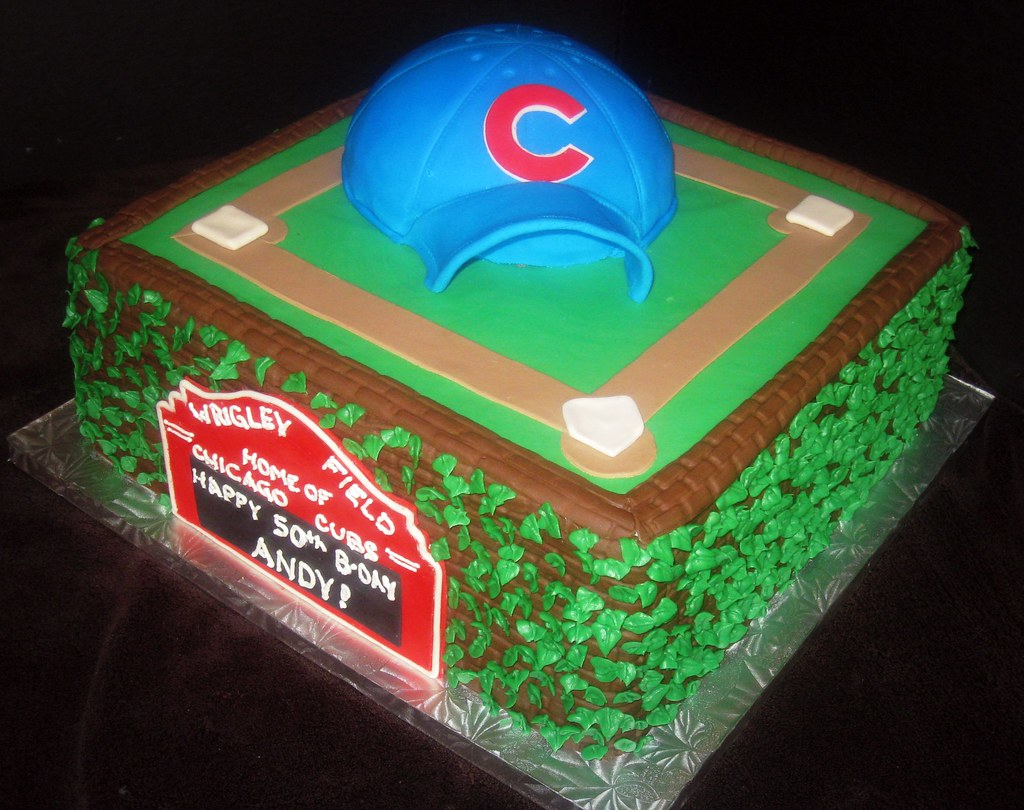 Pleasant Chicago Cubs Cake This Cake Pays Tribute To The Chicago Cu Flickr Funny Birthday Cards Online Ioscodamsfinfo
