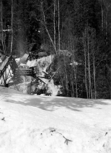 Sprengt bru på strekningen Steinkjer-Mo i Rana