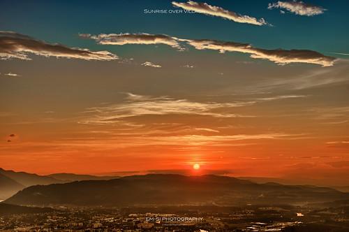 sun mountains nature sunrise austria österreich natur kärnten carinthia berge sonne sonnenaufgang villach dobratsch