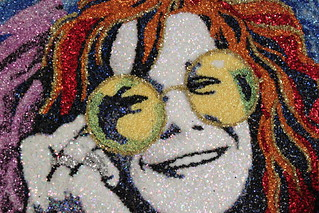 Detail of the Janis Joplin portrait my friends from Austin sent me for my 30 | by LookingforJanis
