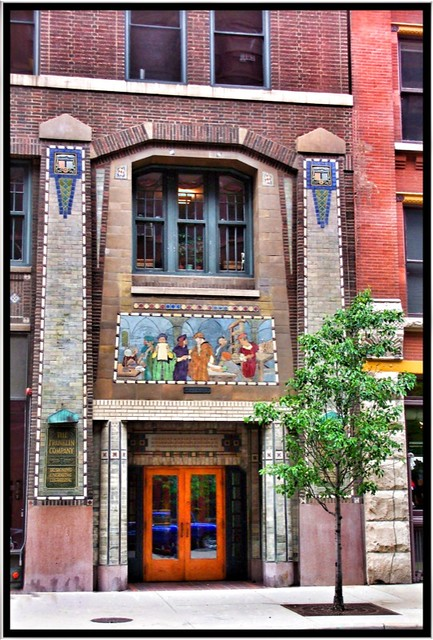 Franklin Building ~ Chicago IL ~ Printers Row ~ Entrance