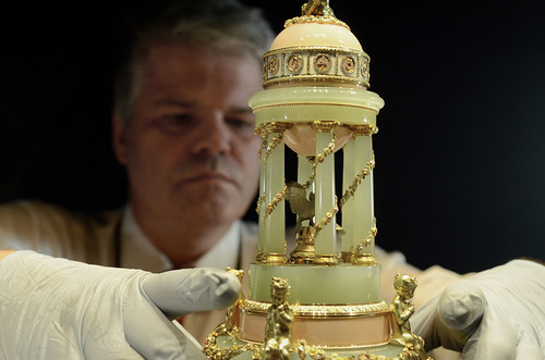 Colonnade Egg, Royal Fabergé exhibition, Buckingham Palace | by The British Monarchy