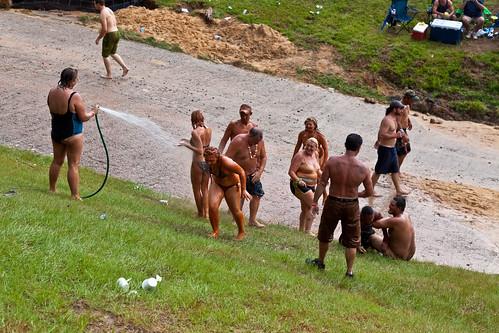 park people georgia event redneckgames eastdublin