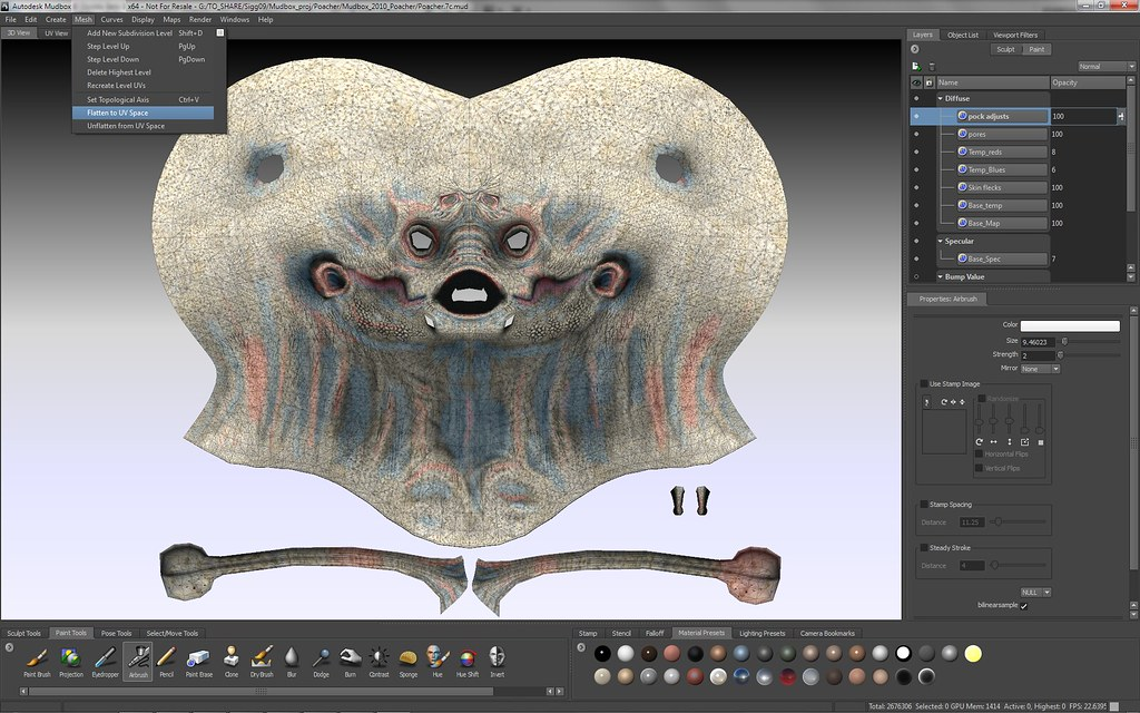 Autodesk - Mudbox - Screenshot - paint - UV Space | Autodesk