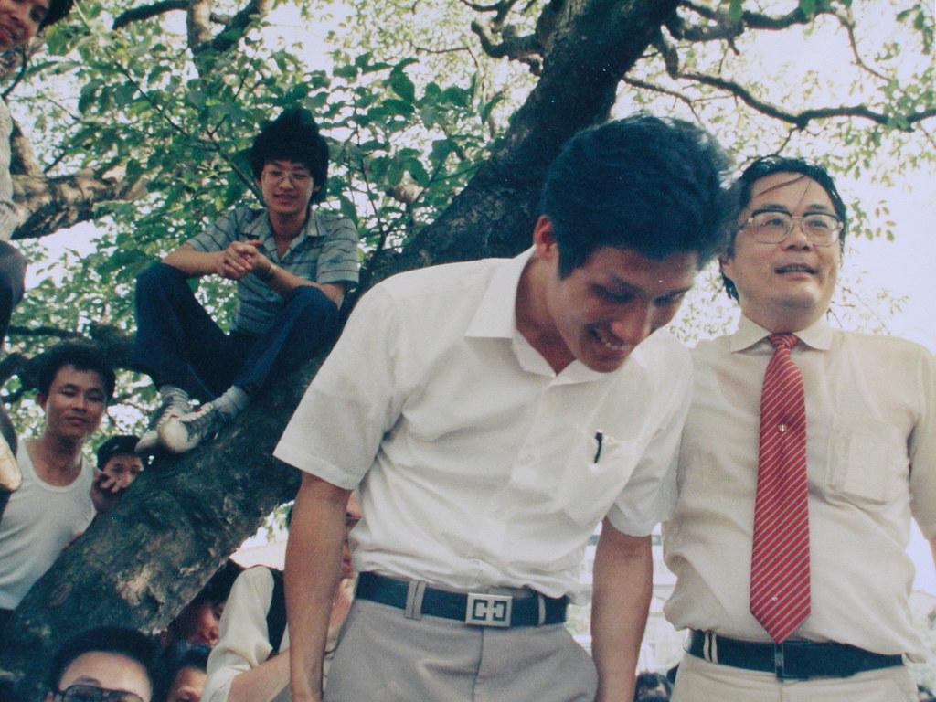 19870612江蓋世與民進黨江鵬堅主席於六一二事件聲援活動01 | Chiang ...