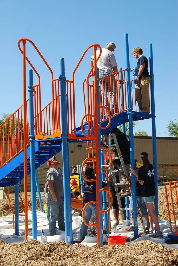 View from the Hill: Built in a Day- Kaboom Playground