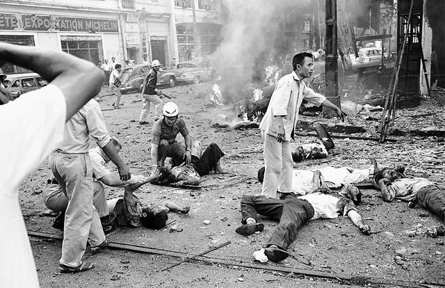 Vietnam Saigon Bombing 1965 - Nổ bom Tòa ĐS Mỹ 30-3-1965