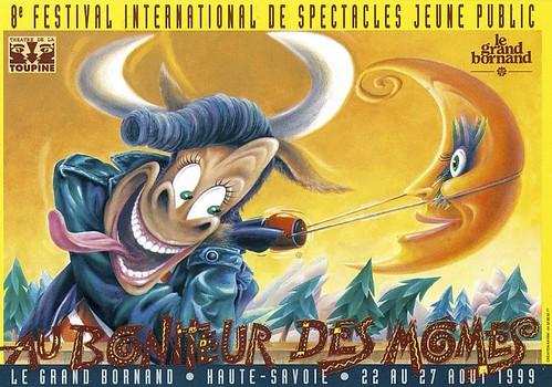 Affiche Festival Au Bonheur des Mômes-1999   by Le Grand-Bornand